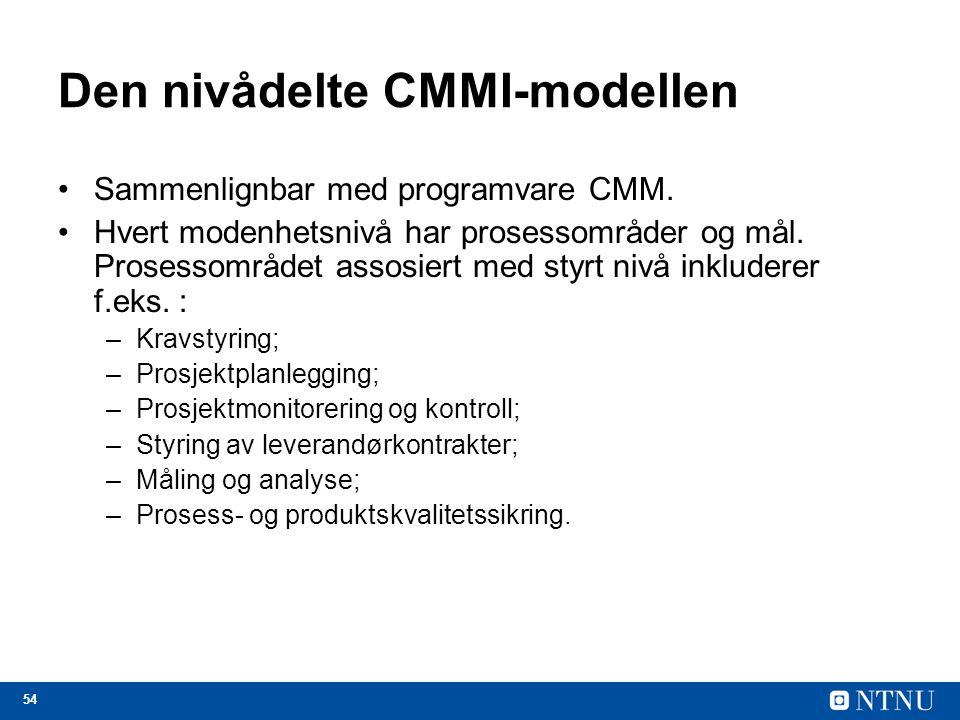 Den nivådelte CMMI-modellen