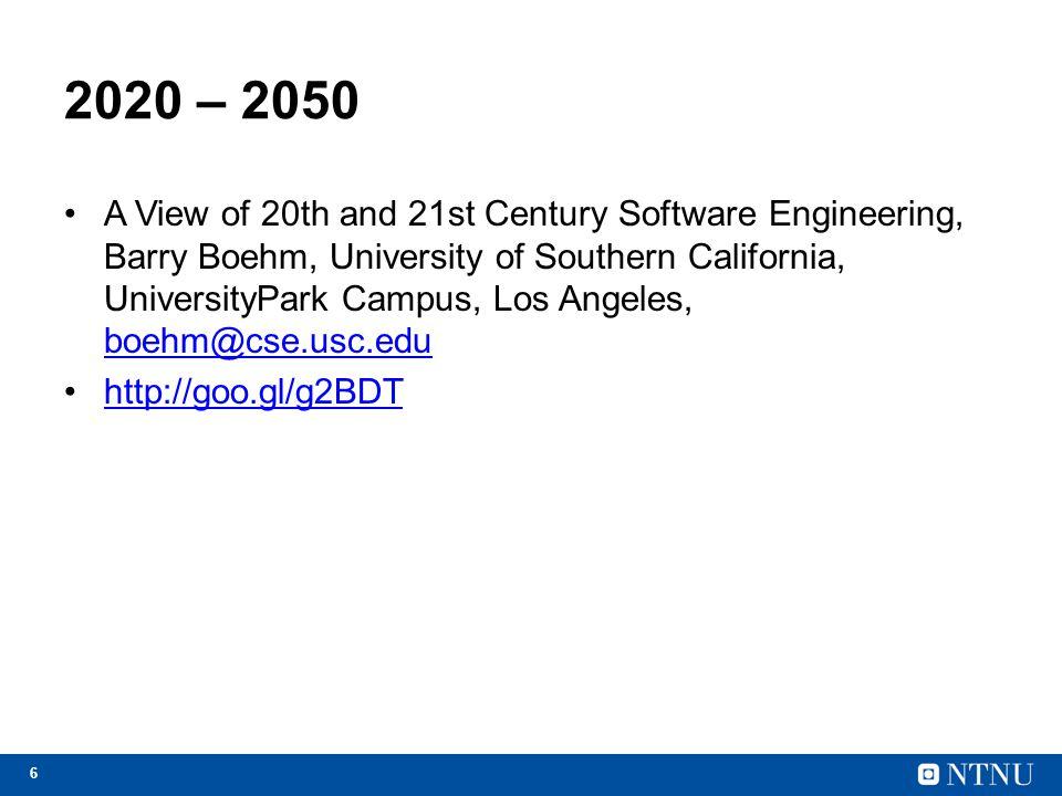 2020 – 2050