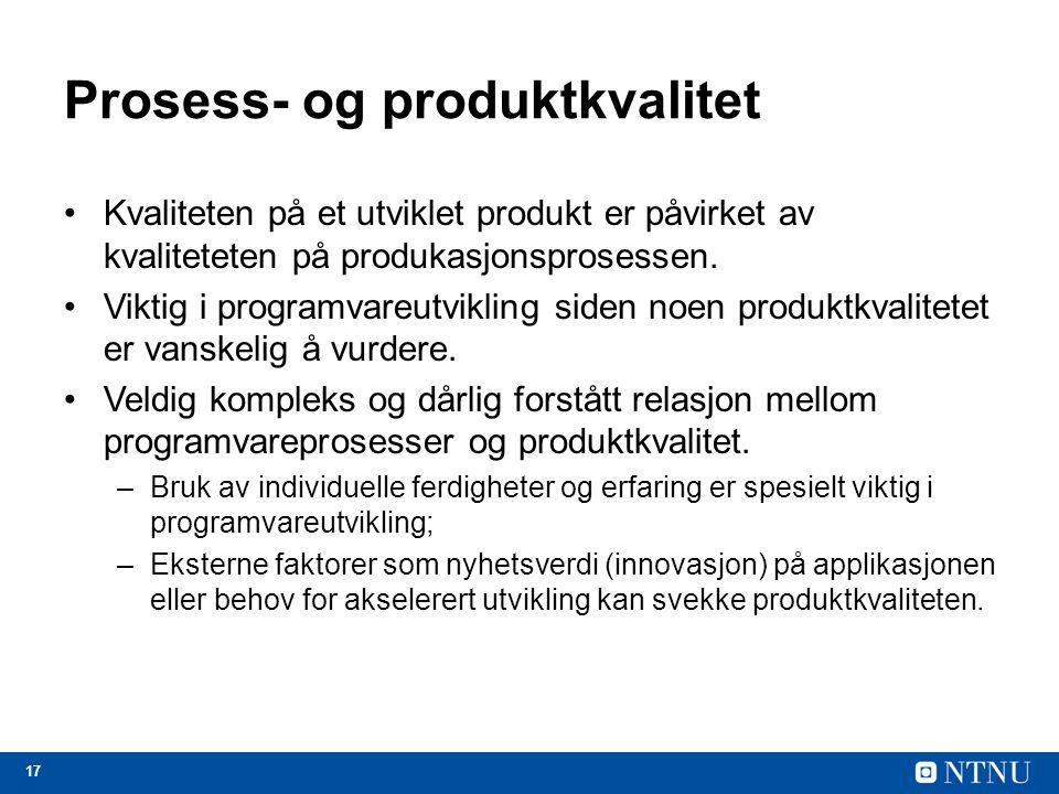 Prosess- og produktkvalitet