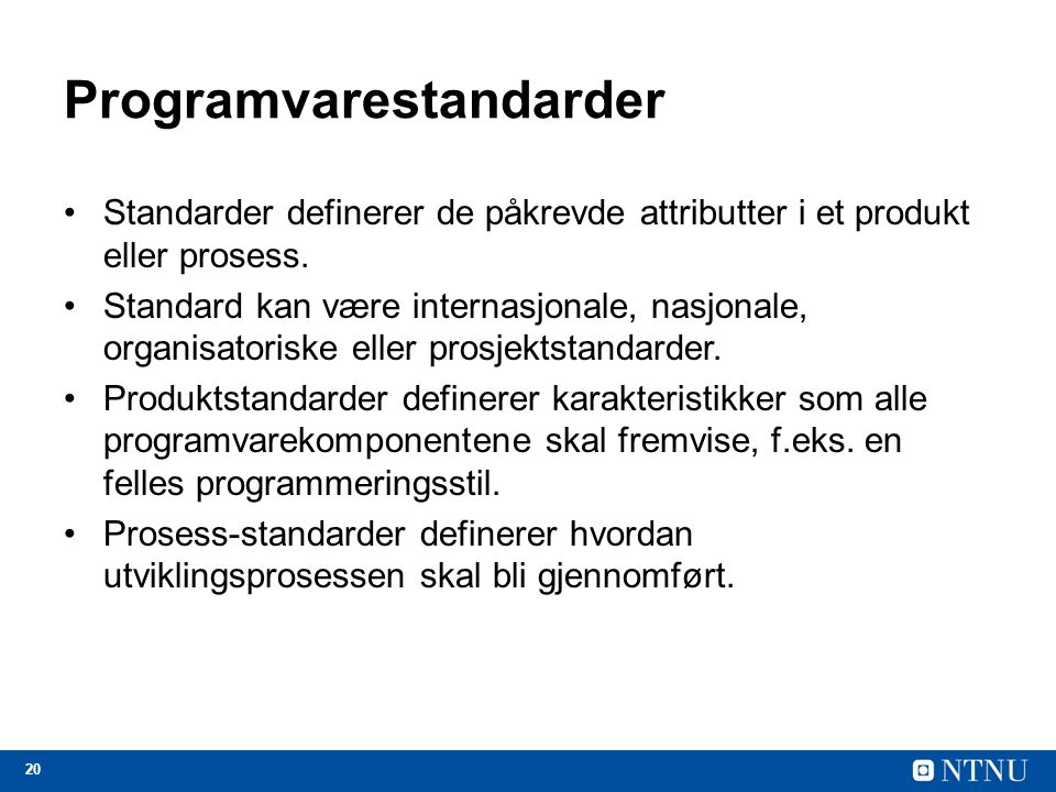 Programvarestandarder