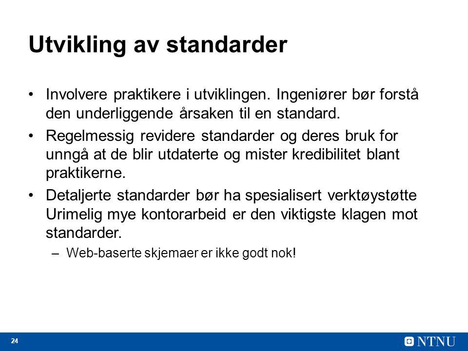 Utvikling av standarder