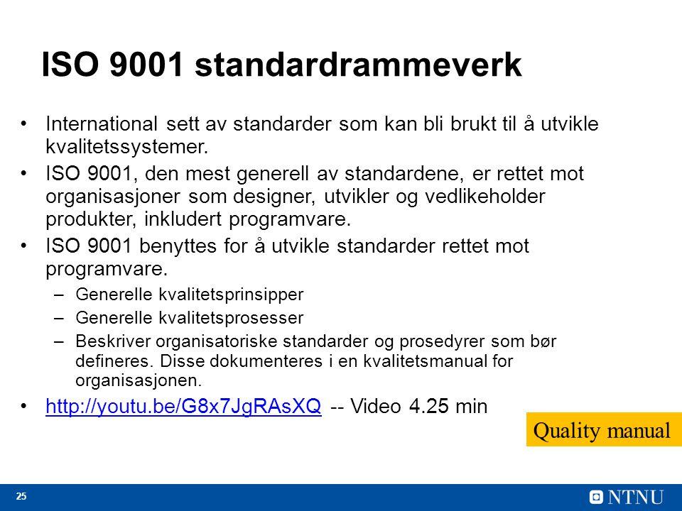 ISO 9001 standardrammeverk