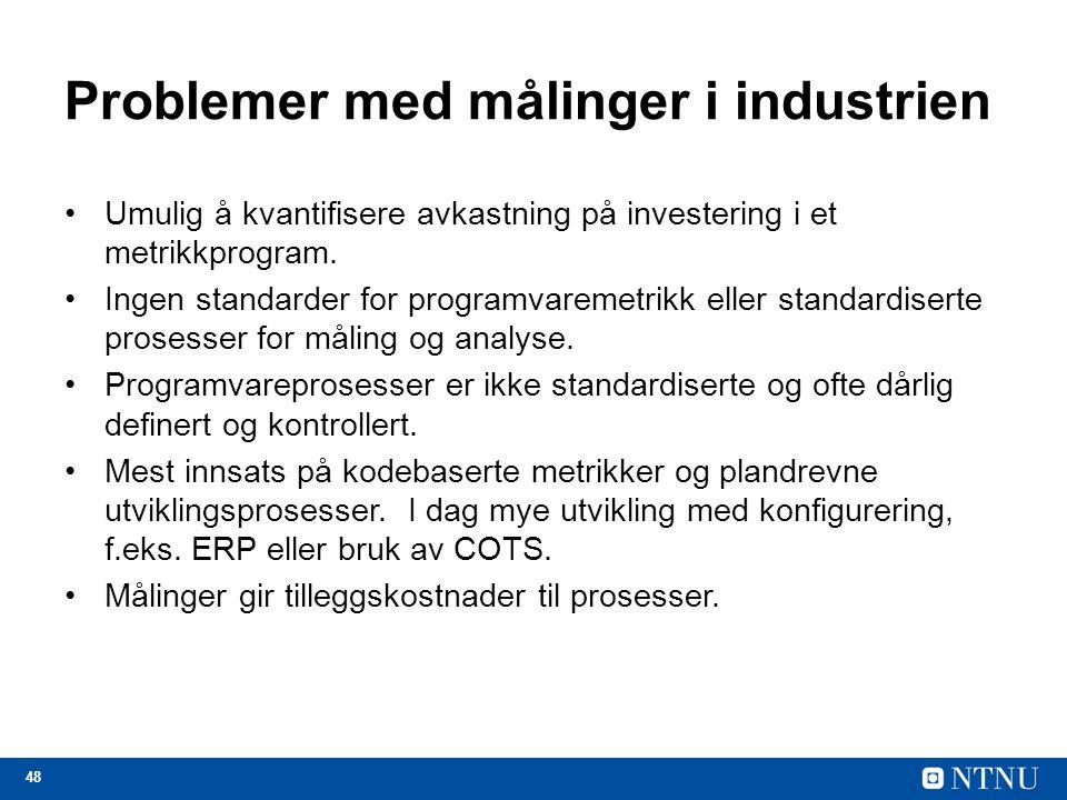 Problemer med målinger i industrien