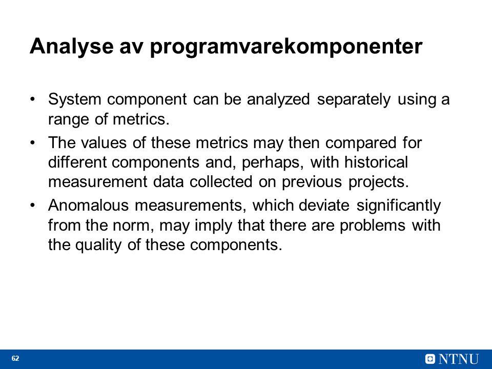 Analyse av programvarekomponenter