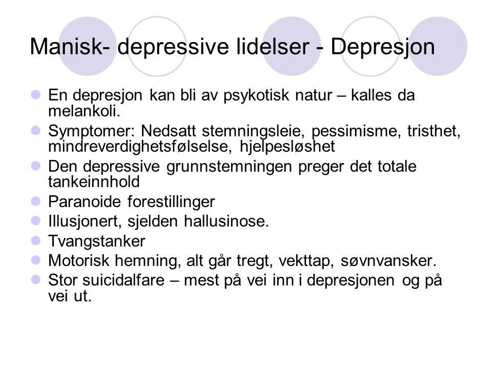 Manisk- depressive lidelser - Depresjon