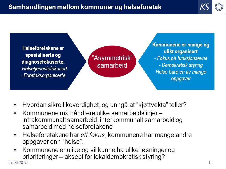 Samhandlingen mellom kommuner og helseforetak