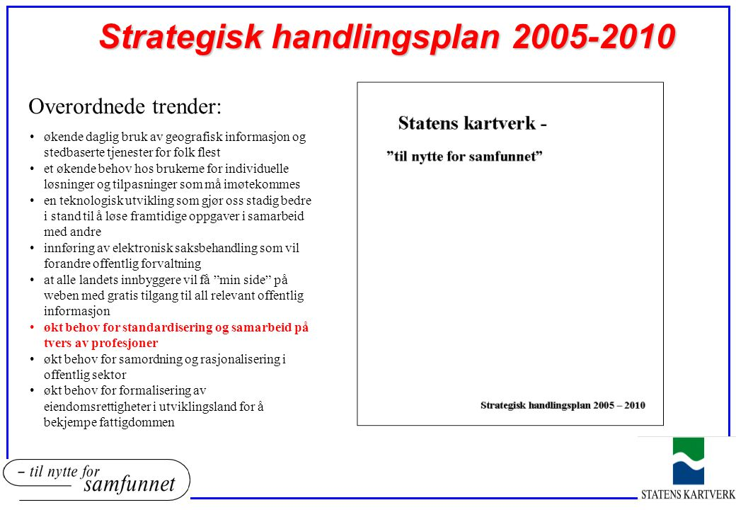 Strategisk handlingsplan 2005-2010