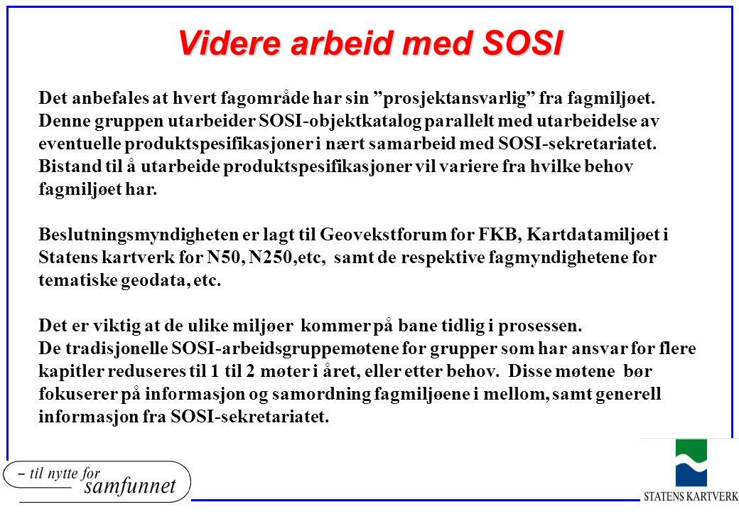 Videre arbeid med SOSI