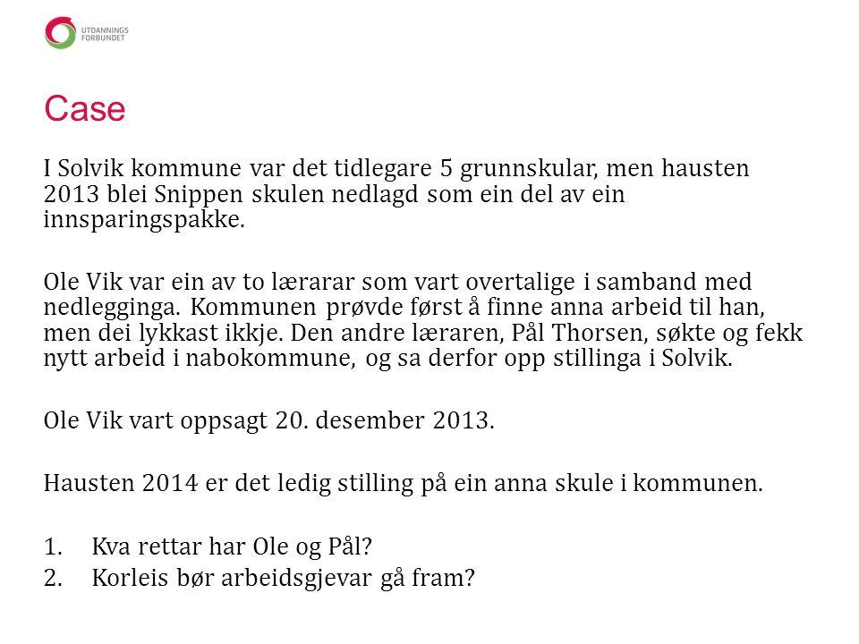 Case I Solvik kommune var det tidlegare 5 grunnskular, men hausten 2013 blei Snippen skulen nedlagd som ein del av ein innsparingspakke.