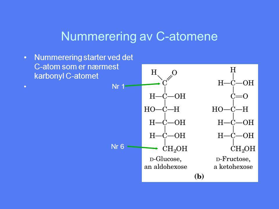 Nummerering av C-atomene
