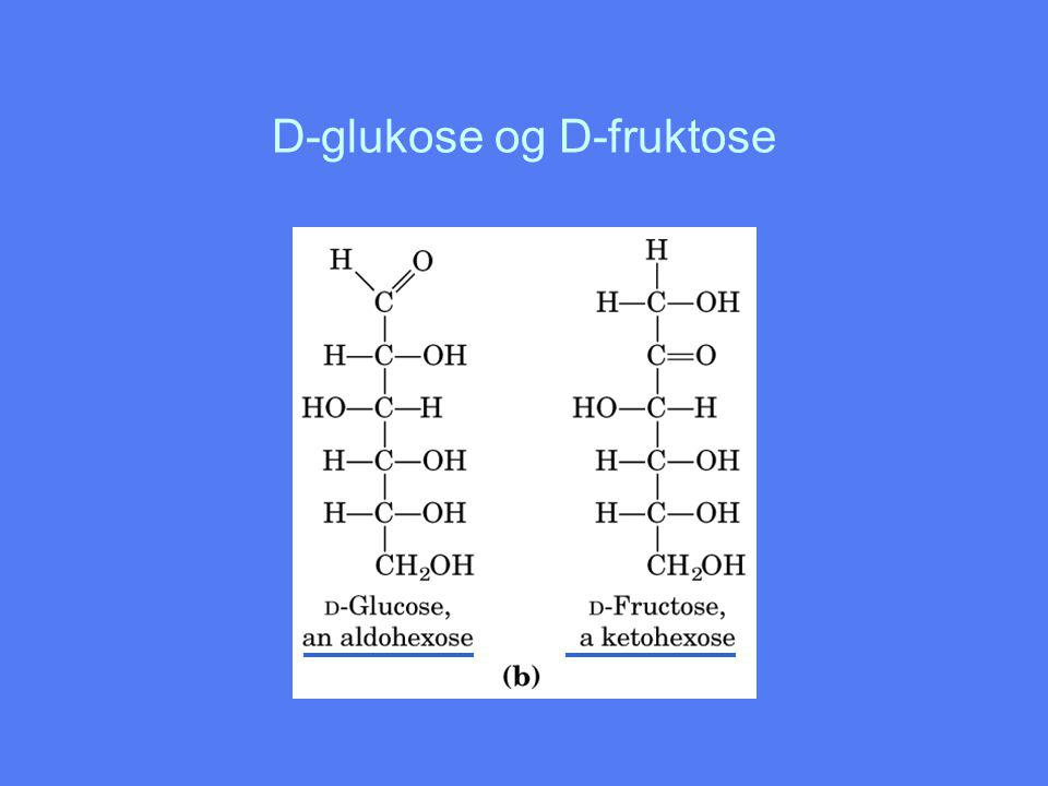 D-glukose og D-fruktose