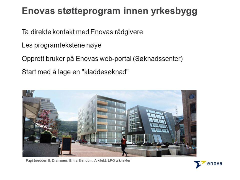 Enovas støtteprogram innen yrkesbygg