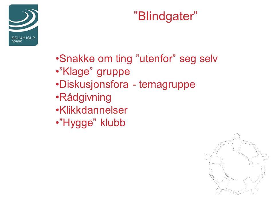 Blindgater Snakke om ting utenfor seg selv Klage gruppe