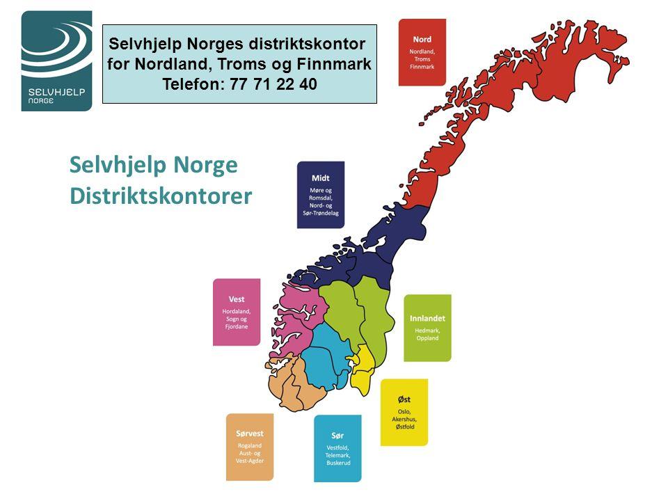Selvhjelp Norges distriktskontor for Nordland, Troms og Finnmark