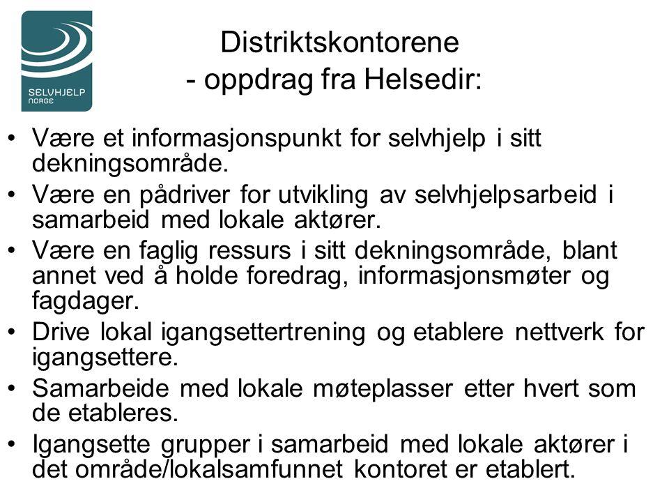 Distriktskontorene - oppdrag fra Helsedir: