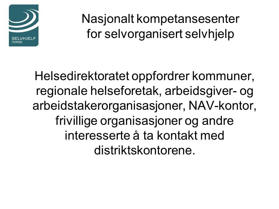 Nasjonalt kompetansesenter for selvorganisert selvhjelp