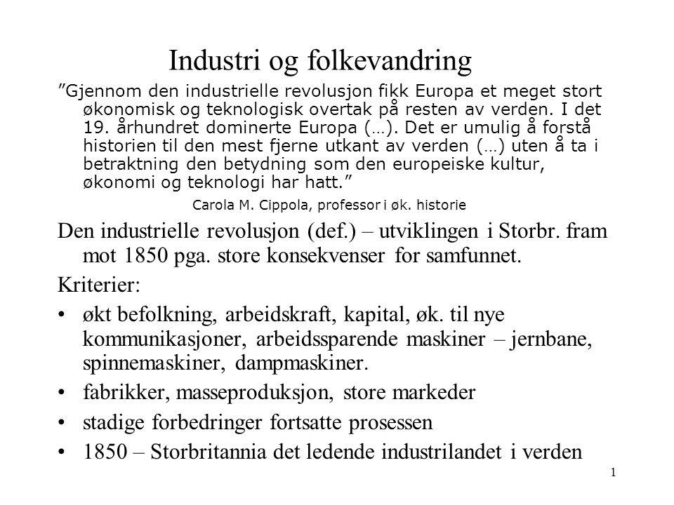 Industri og folkevandring