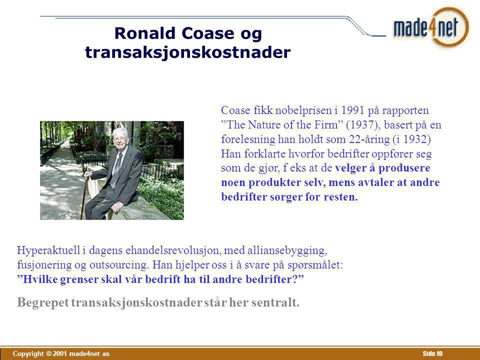 Ronald Coase og transaksjonskostnader