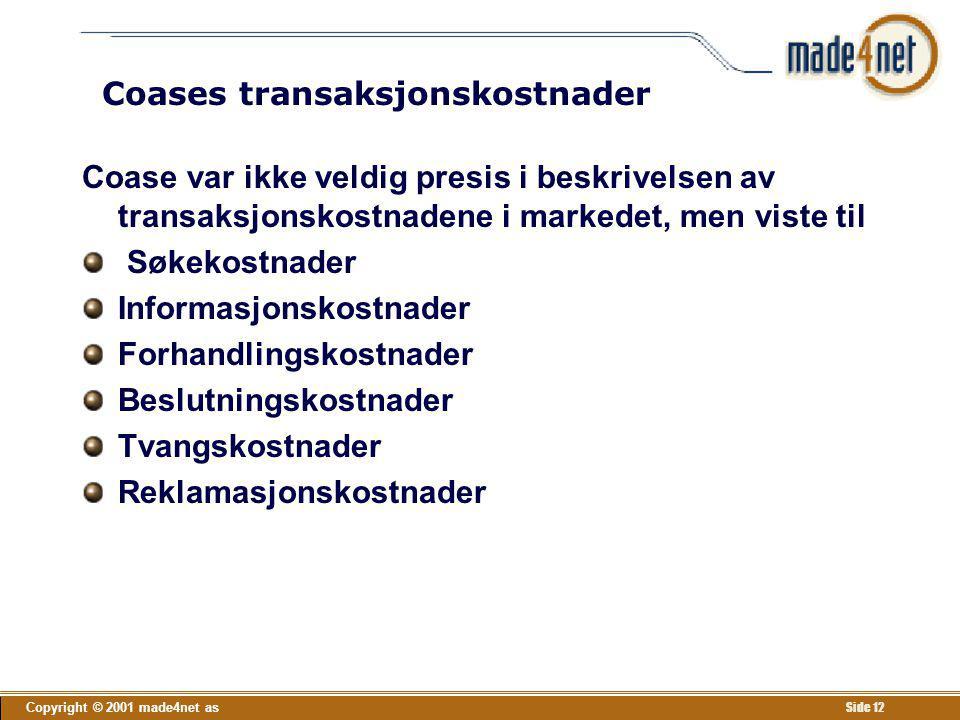 Coases transaksjonskostnader