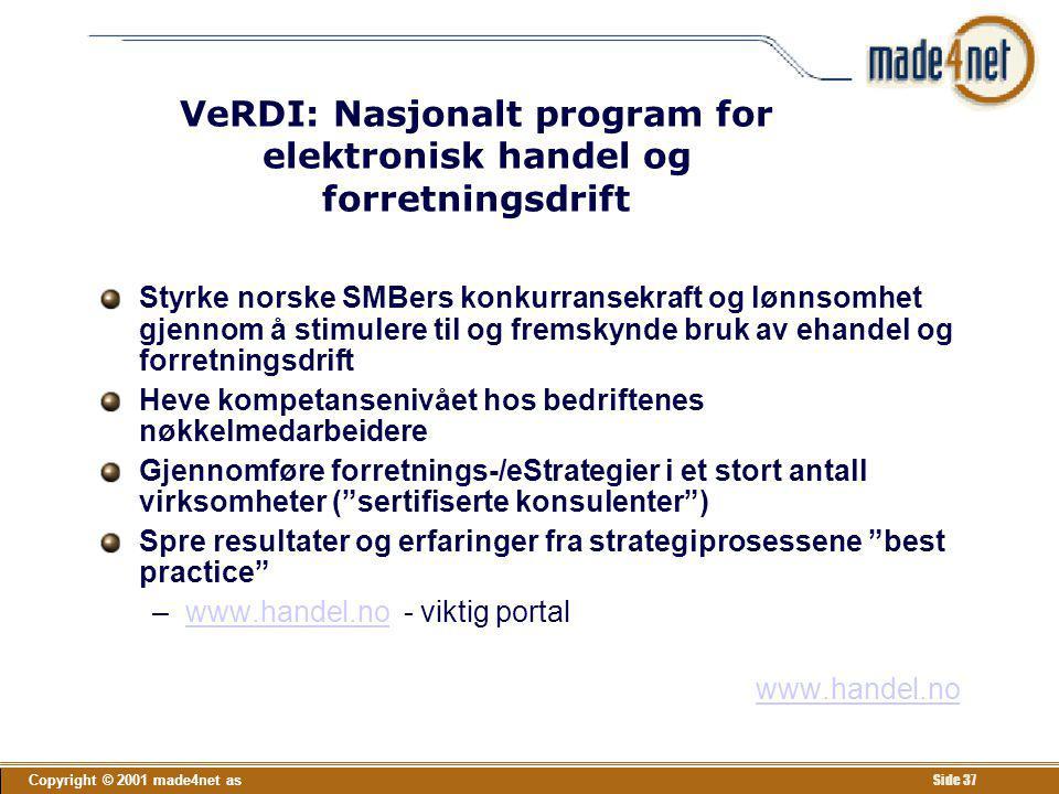 VeRDI: Nasjonalt program for elektronisk handel og forretningsdrift