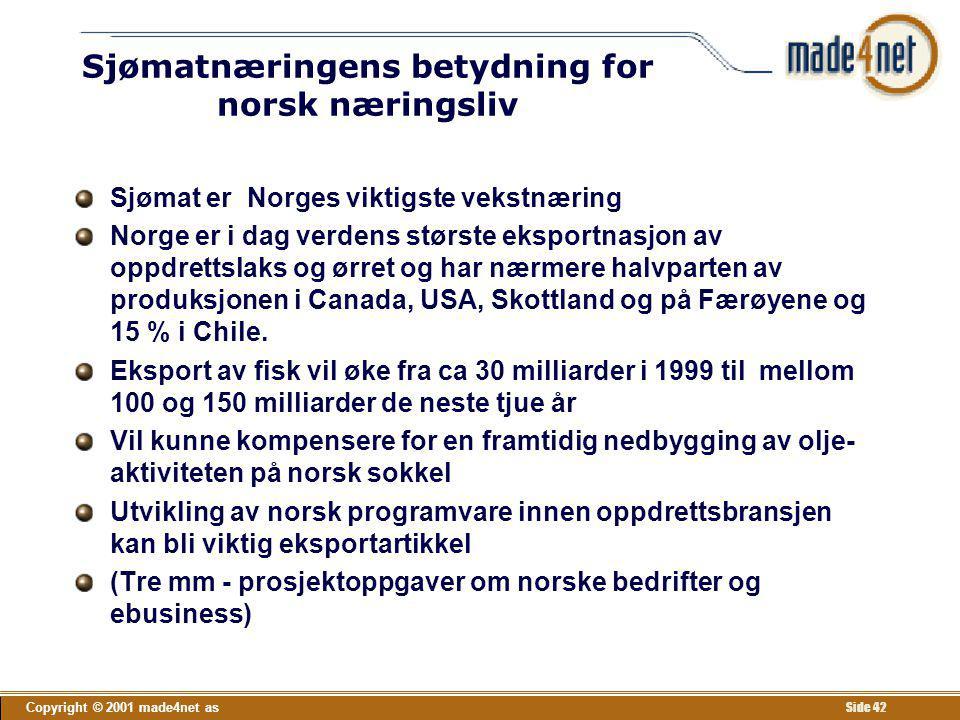 Sjømatnæringens betydning for norsk næringsliv