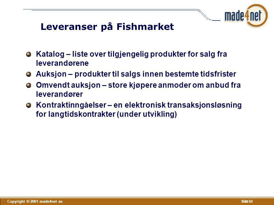 Leveranser på Fishmarket
