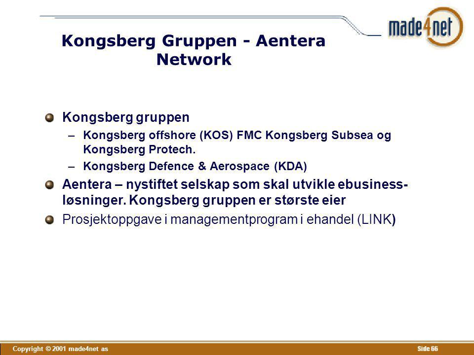 Kongsberg Gruppen - Aentera Network