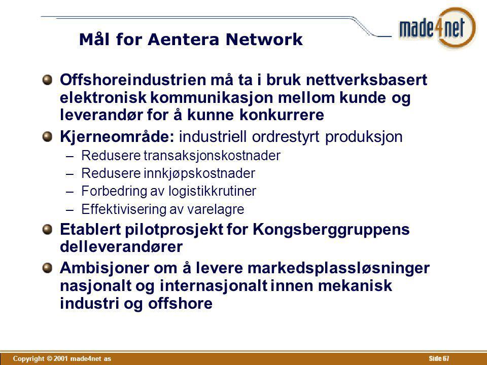 Mål for Aentera Network