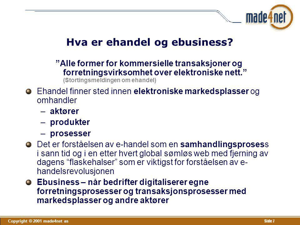 Hva er ehandel og ebusiness