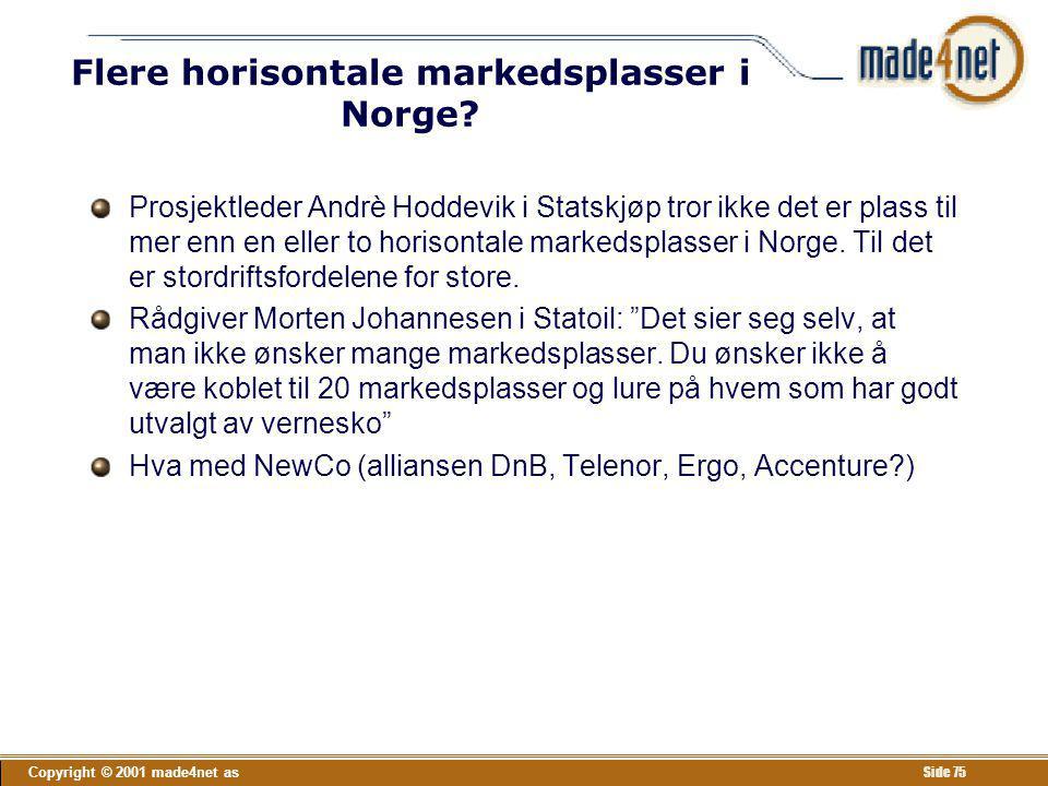 Flere horisontale markedsplasser i Norge