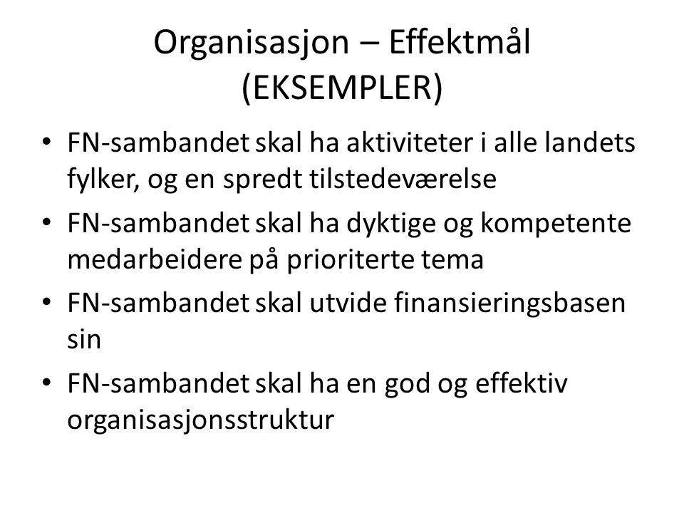 Organisasjon – Effektmål (EKSEMPLER)