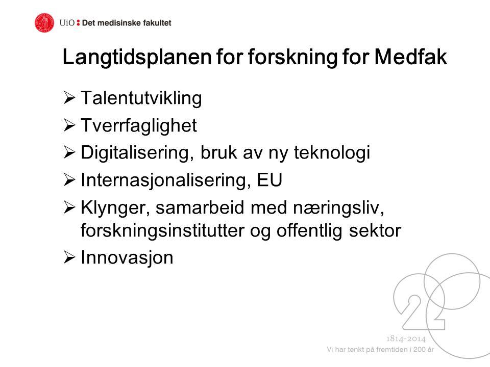 Langtidsplanen for forskning for Medfak
