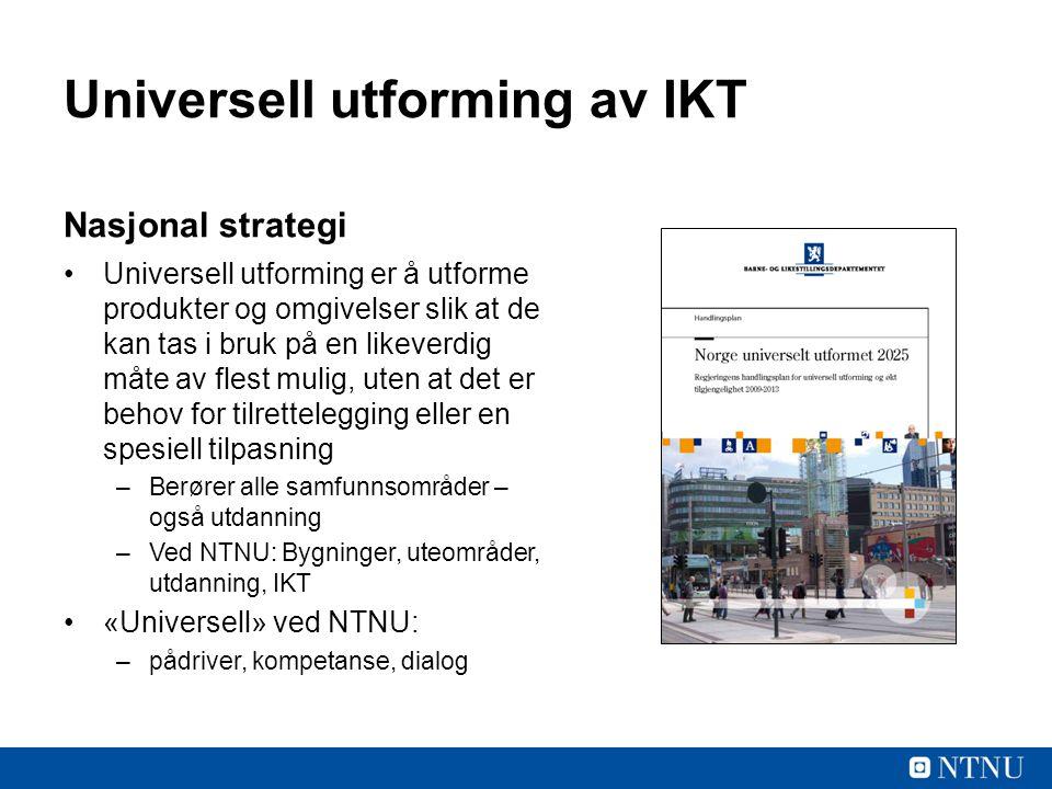 Universell utforming av IKT