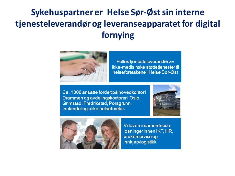 Sykehuspartner er Helse Sør-Øst sin interne tjenesteleverandør og leveranseapparatet for digital fornying