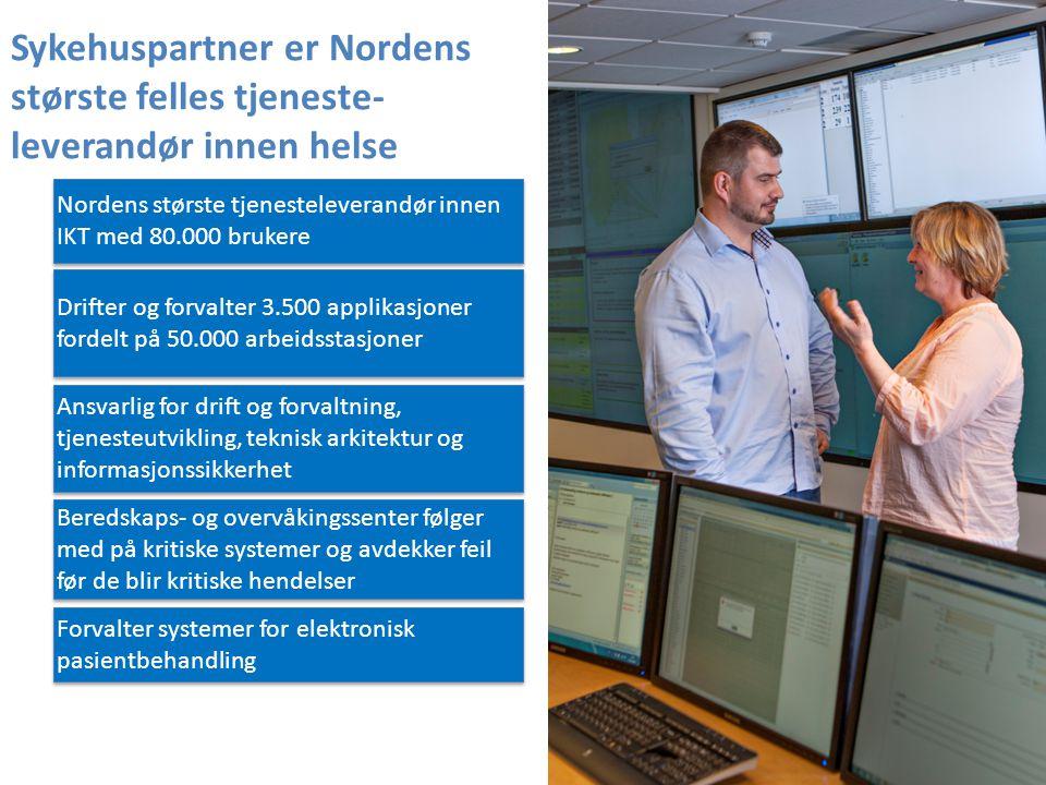 Sykehuspartner er Nordens største felles tjeneste-leverandør innen helse