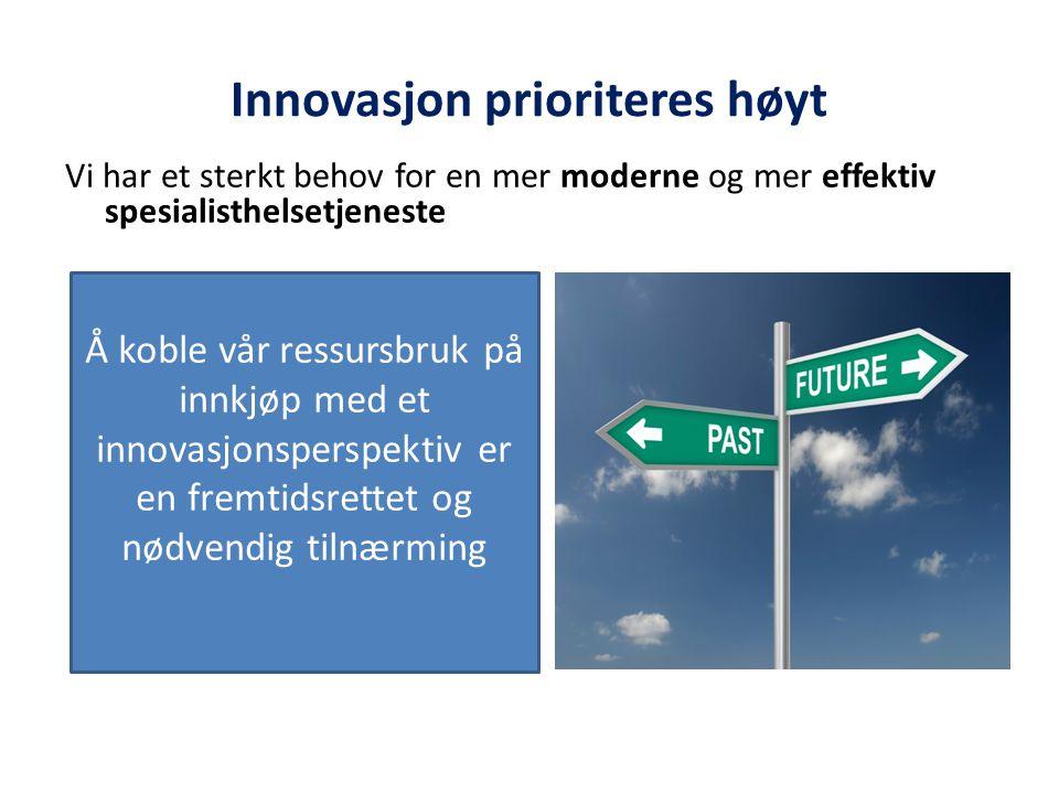 Innovasjon prioriteres høyt