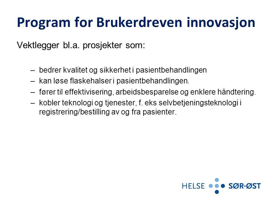 Program for Brukerdreven innovasjon