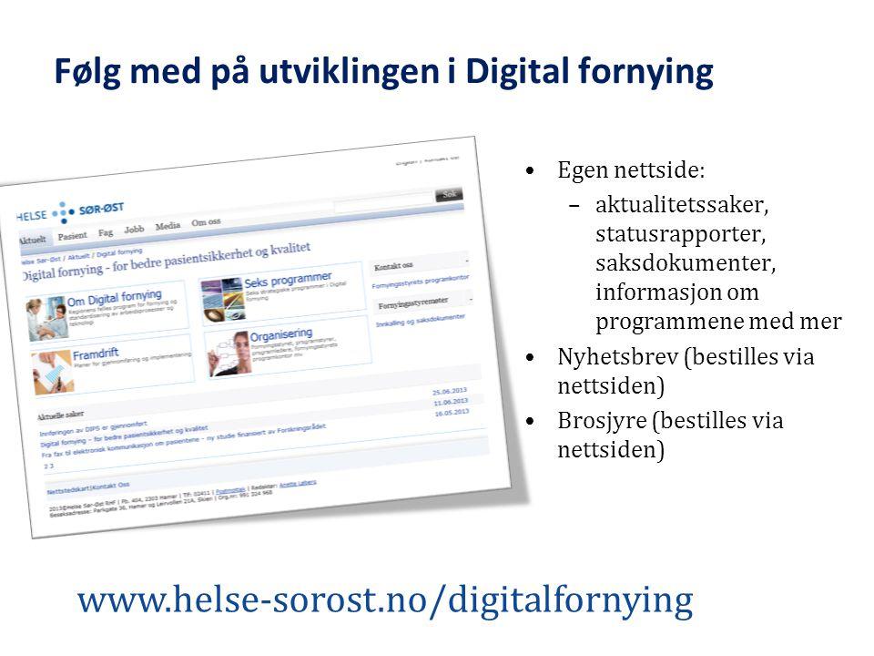 Følg med på utviklingen i Digital fornying