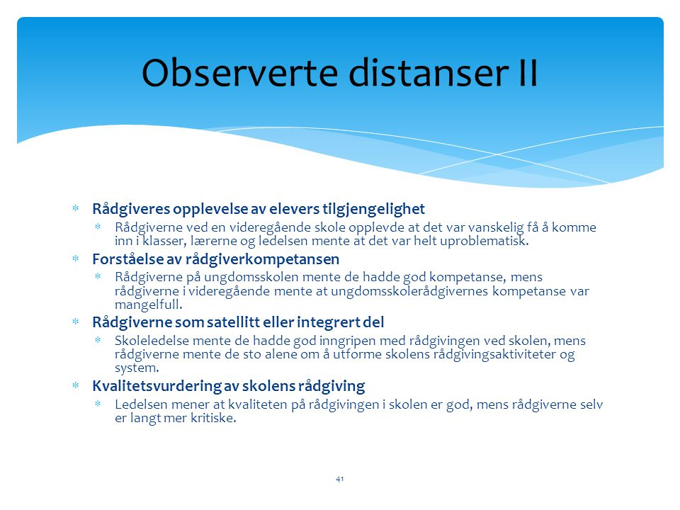 Observerte distanser II