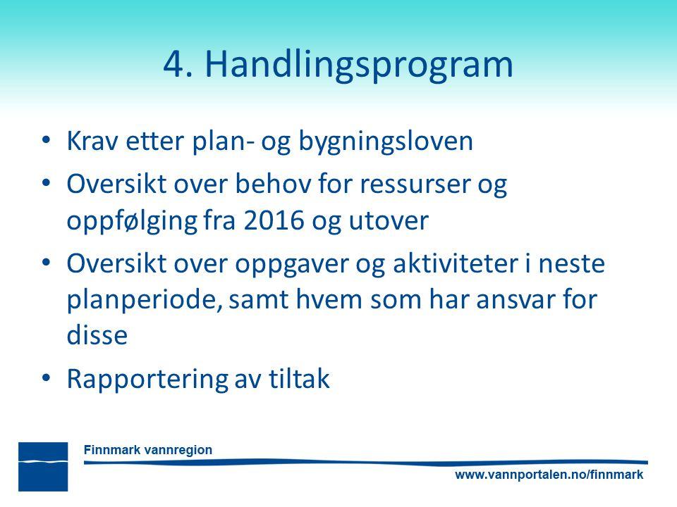 4. Handlingsprogram Krav etter plan- og bygningsloven