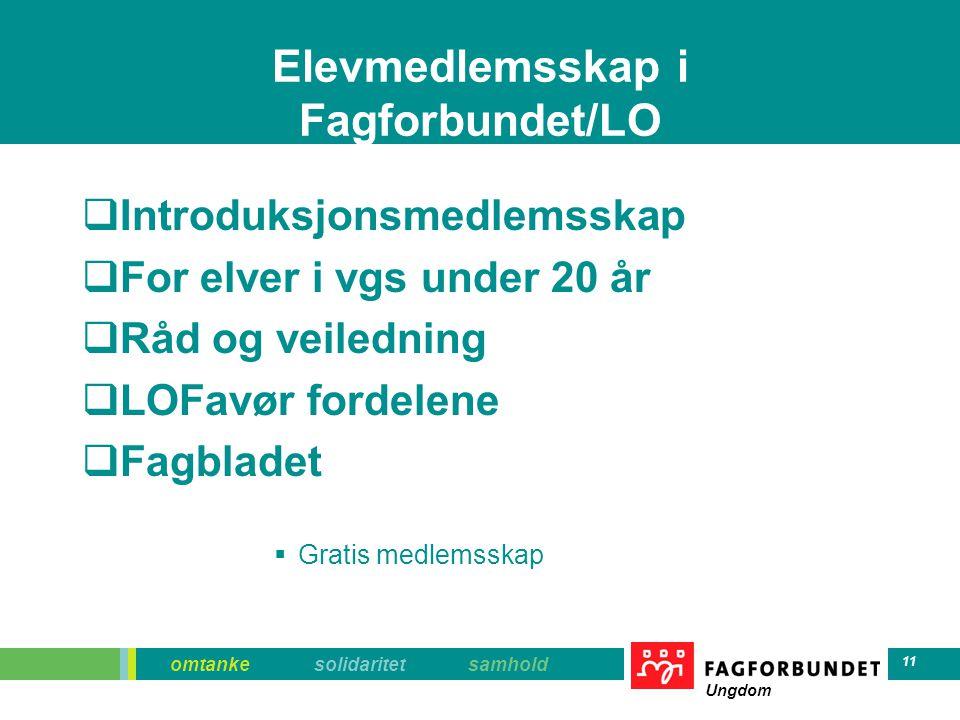 Elevmedlemsskap i Fagforbundet/LO