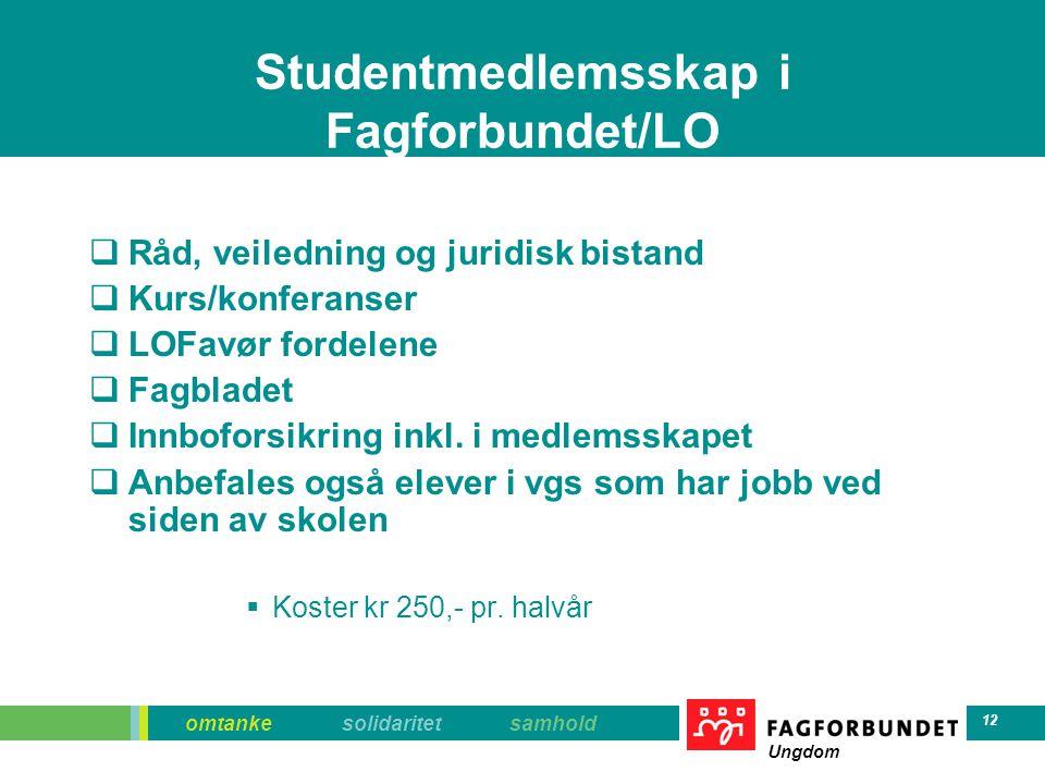 Studentmedlemsskap i Fagforbundet/LO
