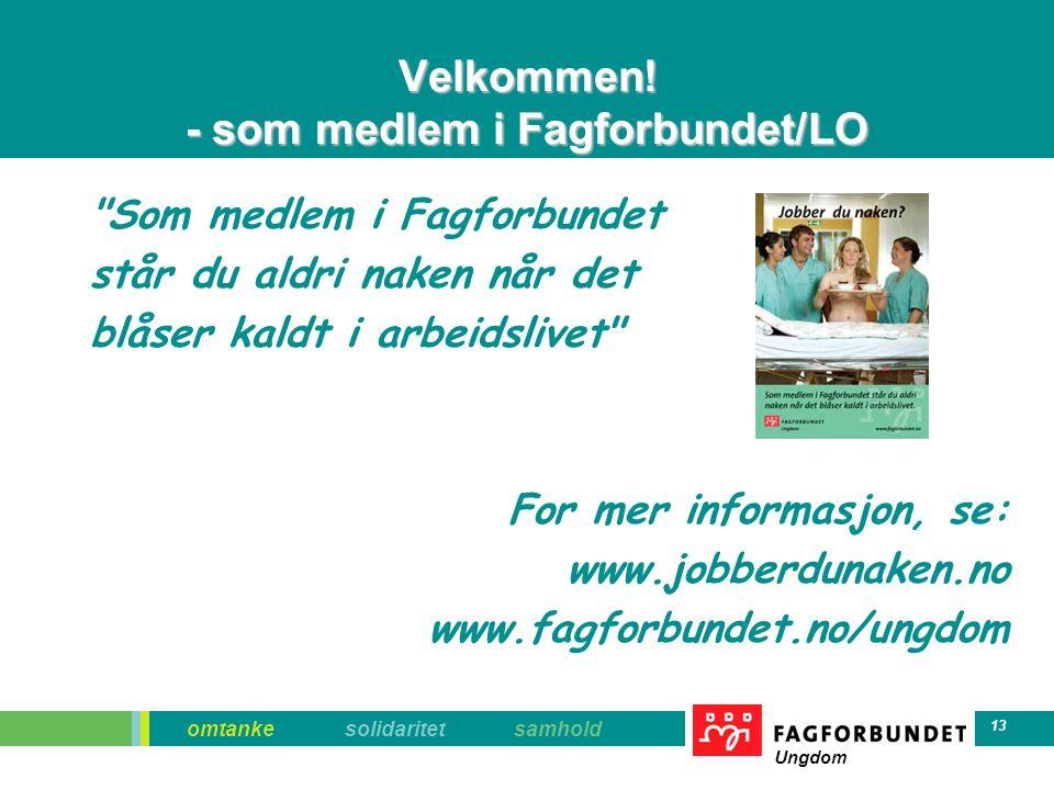 Velkommen! - som medlem i Fagforbundet/LO