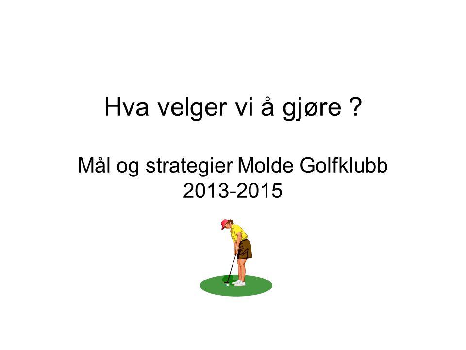 Hva velger vi å gjøre Mål og strategier Molde Golfklubb 2013-2015