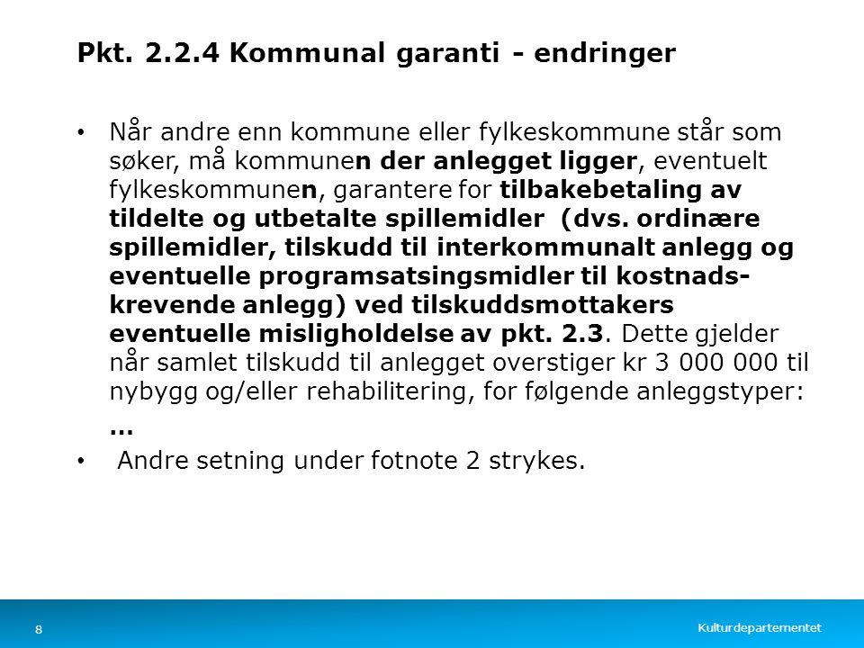 Pkt. 2.2.4 Kommunal garanti - endringer