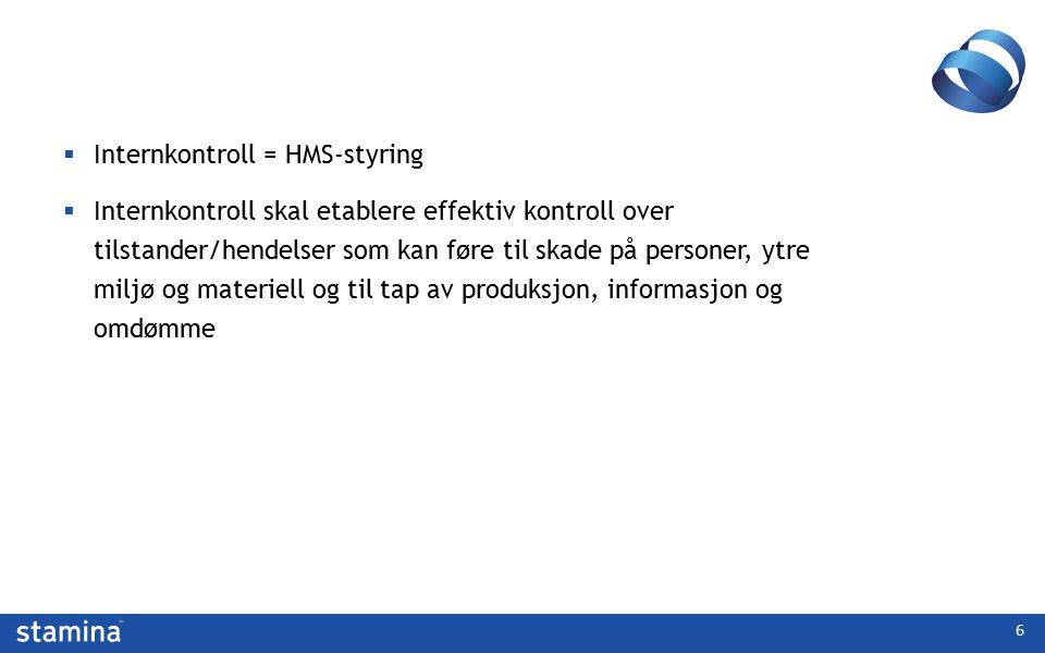 Internkontroll = HMS-styring