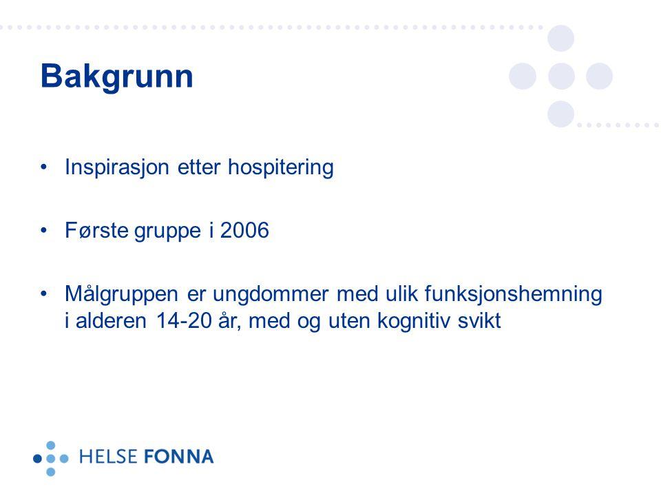 Bakgrunn Inspirasjon etter hospitering Første gruppe i 2006