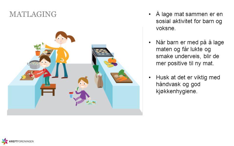 MATLAGING Å lage mat sammen er en sosial aktivitet for barn og voksne.