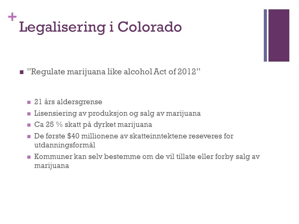 Legalisering i Colorado