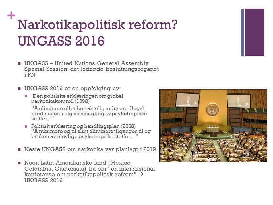 Narkotikapolitisk reform UNGASS 2016
